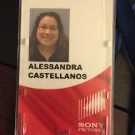 My Sony Studios Badge. I know, I look silly.