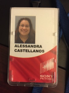 My Sony Studios Badge. I know, I look silly.