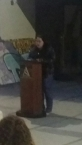 Me reading. yes, super grainy/blurry